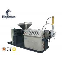 China HIPS PA PVC Plastic Scrap Recycling Machine Single Screw Gray Color on sale