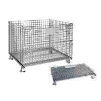 China Galvanized Mesh Storage Cage Wire Mesh Container 4.8-6.0mm Wire Dia on sale