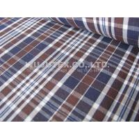 Competitive Price 100% Cotton Yarn Dyed Fabric , plain weave plaid 145 /147cm width Manufactures