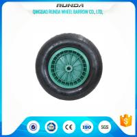75mm Hub Length Pneumatic Wagon Wheels PP RIM Bush Bearing Straight Valves Manufactures