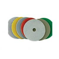 China White Pane Wet Diamond Polishing Pads Chemical Stability For Marble / Quartz on sale