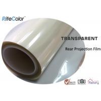 Rear Projection Holographic Screen Film / Transparent Rear Projector Film Manufactures
