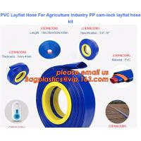 Quality PVC Layflat Hose For Agriculture Industry PP cam-lock layflat hose kit for sale