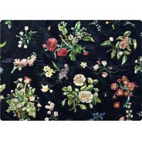 Black Embroidered Curtain / Bags / Bedding Fabric Vintage Upholstery Fabric Manufactures