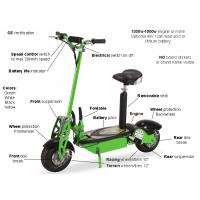 Green Folding Electric Mobility Scooter Lightweight With Lead Acid / Lithium Battery Manufactures