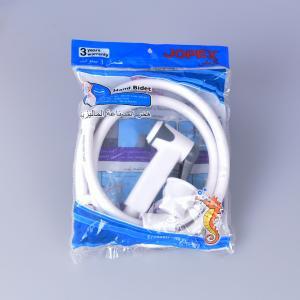 jk-3046 egypt bangladesh middle east lower price white color abs plastic hand bidet shattaf set with 1.2m pvc hose Manufactures