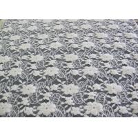 Washable Brushed Floral Lace Stretch Fabric / NylonCotton Spandex Fabric CY-LQ0043 Manufactures