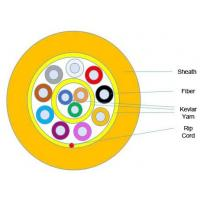 Flame Retardant Armored Fiber Optic Cable Distribution Tight Buffer Wire GJFJV Manufactures
