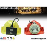 0.38M Cable White Color Coal Miners Headlamp , 8000 lux IP68 Miners Hard Hat Light Manufactures