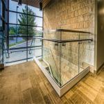 Stainless steel handrail aluminium U channel glass railing for balcony