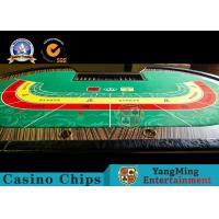Baccarat 10 Person Casino Poker Table With Cash Drop Holder 2650 * 14530 * 750mm Manufactures