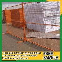 Willows Danger control construction fence for sale powder coated Manufactures