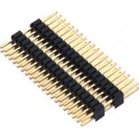 1.27mm Pin Header Connector Dual Row Double Plastic PA9T Black Pcb Pin Connector Manufactures