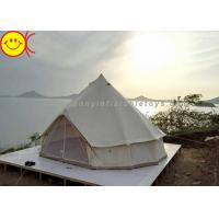 China Outdoor Inflatable Tent Waterproof Cotton Canvas Family Camping Bell Tent Indian Teepee Tent on sale