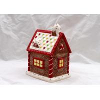 Cubby Design Ceramic Cookie Jar Dolomite Red Christmas Decoration Food Jar With Lid Manufactures