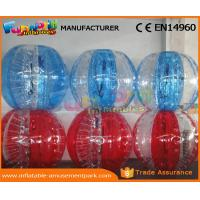 Human Sized Soccer Bubble Ball Inflatable Zorb Ball Heat Sealed 1 Year Warranty Manufactures