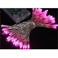 Waterproof Battery Operated Christmas String Lights 4.5 Volt Multicolor / Pink Manufactures