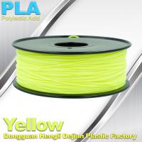 Materials Yellow PLA 1.75mm Filament For Cubify And UP 3D Printer Manufactures