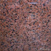 China Brown Red Granite Stacked Stone Panels , External Decorative Stone on sale