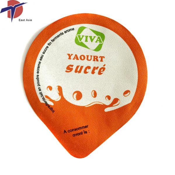 Quality Food Grade Aluminium foil sealing lids for yogurt cup, yogurt cup sealing lids for sale