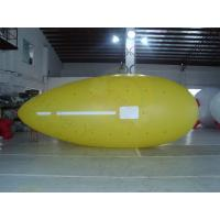 Quality Yellow Zeppelin Helium Balloon Inflatable Waterproof For Outdoor Sports for sale