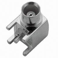 RF Connector with MCX Jack, Right Angle Type Manufactures