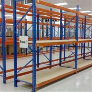 Steel Structure Medium Duty Shelving , Custom 4 Layer Teardrop Pallet Rack
