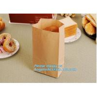 China Bread Kraft Paper Bag Square Bottom Bag Takeaway food Packing Bag,Recyclable sandwich bread food packaging brown paper b on sale