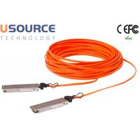 Data Center Huawei Compatible 40G Fiber Optic Cable QSFP + AOC Greater bandwidth Manufactures