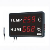 China Large LED Room Temperature Thermometer , Digital Thermometer Humidity Meter on sale