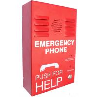 Red Auto Dial Emergency Push Button Telephones , Caller ID SOS Phone Manufactures