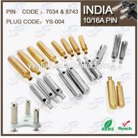 China 7034 & 8743 5.0mm 7.0mm 5/6A south africa india plug with 5/6a 10a crimping holder pin on sale