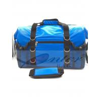 Blue 500D Polyester PVC Travel Cooler Bag With Screen Printing / Embossing Logo Manufactures