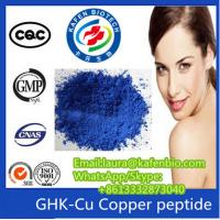 China Sell High Quality Peptides Copper Peptide / GHK-Cu  Lyophilized Raw Powder CAS:49557-75-7 on sale