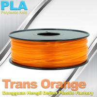 1.75mm /  3.0mm Trans Orange PLA 3D Printer Filament Colors 1KG / Roll Manufactures