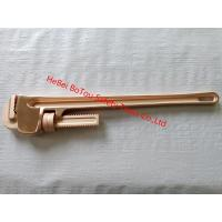 Non-Sparking Safety Tools Pipe Wrench 24 By Copper Beryllium FM Certificate