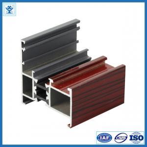 China 6063-T5 powder coating thermal break aluminium profile to make doors and windows on sale