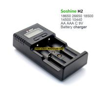 Quality Soshine H2 LCD Universal Charger for Liion/LiFePO4 26650 18650 9V NiMH C AA AAA for sale