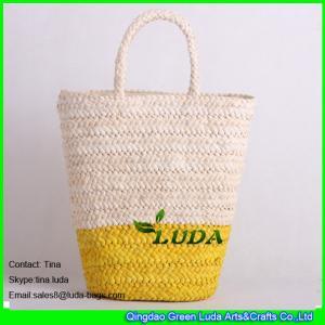 LUDA large straw beach bag women beach totes cornhusk straw bags for women Manufactures