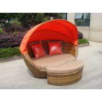Buy cheap Building Balcony Waterproof Outdoor Rattan Daybed With Table from wholesalers