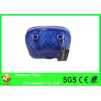 Blue Transparent Diamond Candy Hand Bags / PVC Jelly Hand Bag for Shopping Manufactures