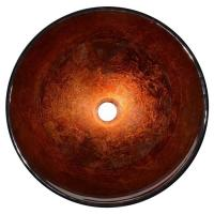 China Modern Artistic Glass Bowl Bathroom Vanity Sinks , Colored Bathroom Lavatory Sinks on sale