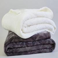 Custom Double Ply Sherpa Flannel Plush Blanket For Hotel / Home / Office Throws Manufactures