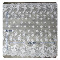 Eco - Friendly Dyeing Wedding Dress Chantilly Lace Fabric , Ivory Repeated Floral Manufactures