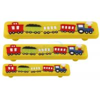 Custom Metal Hardware 128mm CC Yellow Kids Corner Acrylic Train Bar Cabinet Pull Handle Manufactures