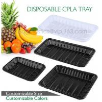 China PLA plate best selling prodcts, biodegradable PLA dinner plate for restaurant use, pla food box for meat on sale