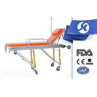 Foldable Ambulance Patient Stretcher Trolley With Foamed Cushion Surface Manufactures