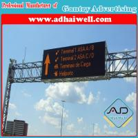 China Gantry Cross Road Traffic Billboard LED Screen Sign wholesale