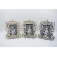 Handmade Baroque Vintage Resin Photo Frame , Durable Resin Picture Frames Manufactures