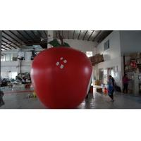 3.5m Height Apple Shaped Balloons Pantone Color Matched Printing Large Manufactures